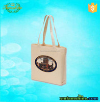 customized natural printed cotton fabric bag