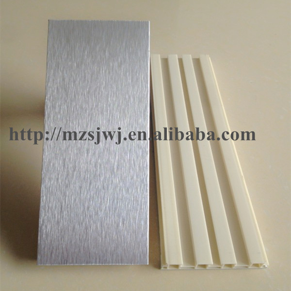 Brushed aluminum foil plinth panel for kitchen cabinet for Brushed aluminum kitchen cabinets