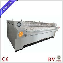 De lavandería comercial de ropa de rodillos planchadora& hoja de la máquina de planchar de calefacción de gas