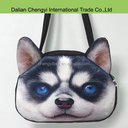 wholesale 3D cool printing stylish dog shoulder bags