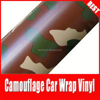 TSAUTOP camouflage self adhesive car film stickers\camouflage wrap 1 52*30m air bubble\attractive camouflage vinyl wrap