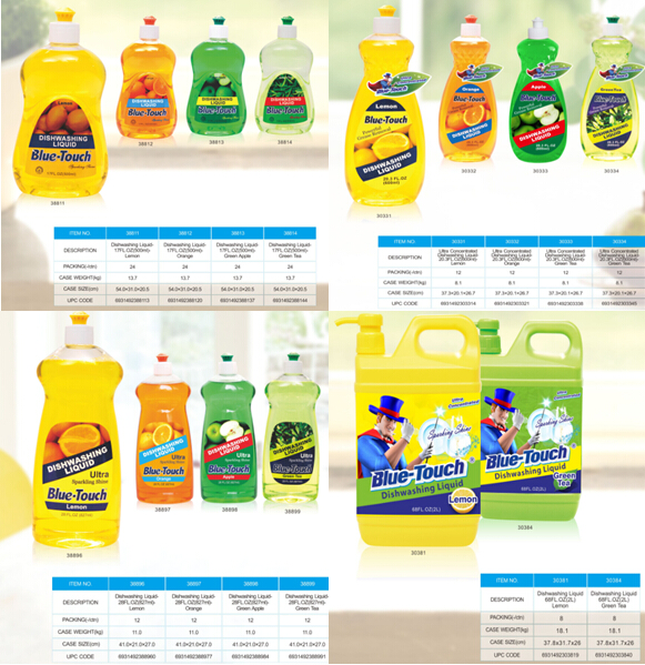 Blue-Touch flavour Ultra Concentrated dishwashing liquid - Lemon Apple Orange Scent