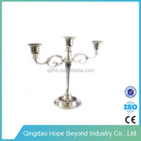 Home decoration wrought iron tall pillar candle holder