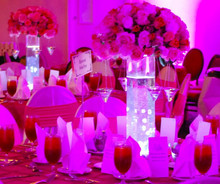 IR remote LED battry powered accent light for wedding decoration
