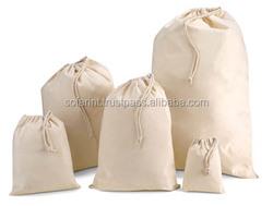 eco friendly small cotton drawstring bag,cotton muslin bag,drawstring cotton bag