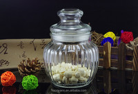 500ML Wholesale clear airtight glass jar with metal clip/food glass jar with metal clip lid/stripes