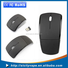 Optical Foldable Arc Wireless Mouse Mice for microsoft window and apple system USB 2.4G Snap-in Receiver Black