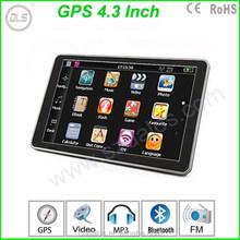 "High quality 128RMB 4.3"" car gps navigation cheap wince 6.0 gps maps"