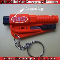 custom logo bodyguard 3-in-1 SOS WHISTLE/SEATBELT CUTTER/WINDOW BREAK Mini Car Emergency Safety Tool life Hammer/ Keychain