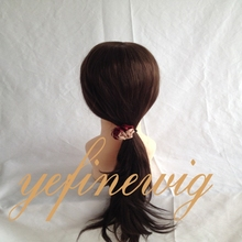 Wholesale Real Brown Ponytail Human Hair Lace Wig