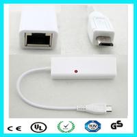 Multiple plugable male micro usb female ethernet adapter