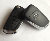 High quality custom car keys for 3 buttons original Citroen C5 key citroen c5 remote key with 433mhz id46 chip ASK