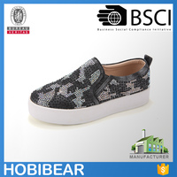 HOBIBEAR girl boat shoes kids black casual loafers shoes