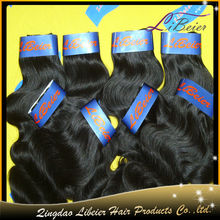 2013 new arrival fashion popular body wave #1 white hair extensions for sale