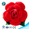 Custom new soft stuffed plush red rose flower shaped pillow valentine gift