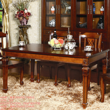good price of solid wood 6 seater dining room table