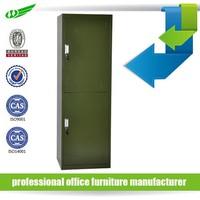 Wide style steel almirah/ wardrobes double door metal locker/cabinet