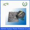Virgin plastic PE black drawstring garbage bag