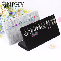 A114 ANPHY Earring Stand Flannelette Jewelry Stand L Earring Holder