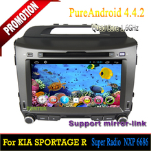 Car pc android dvd For Kia Sportage R 2010-2012/in dash car dvd player gps touchscreen Android 4.4. OS,bluetooth,DVD,Quad-core