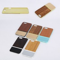 New Fashion Unfinished Wood Wooden Phone Case Back Cover For iPhone 6