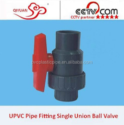 2015 PVC/UPVC Pipe Fitting Union Panel Mount Ball Valve with Lock with good Sale Price