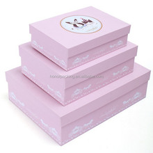 High Quality pink square bottom decorative storage box free sample newly arrived custom hard paper gift box