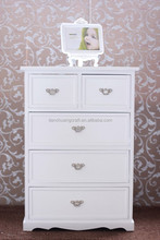 white modern living room cabinets with 5 drawers