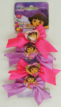OEM-4PCS KIDS DORA ELASTIC HAIR BAND WITH BOW