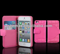 "For Iphone 5"" case Mobile phone wallet,New hot selling for apple iphone 5 wallet case"