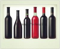 750ml painted wine, whisky, vodka, beer, liqueur, viskar bottles