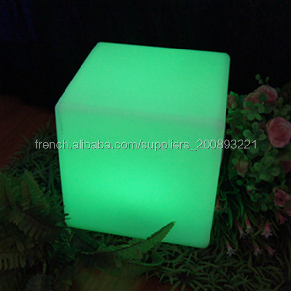Salon Jardin Cube | Changeant De Couleur Table De Salon De Jardin Table Lumineuse Led