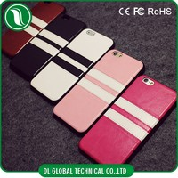 new mobile cover for iphone 6 leather case Soft tpu strip mobile cover for iphone 6 leather case