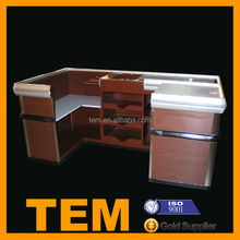 Durable Safty Wooden Cash Counter For Retail Store