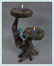 el diseño de la naturaleza abeto chino de madera candelabro