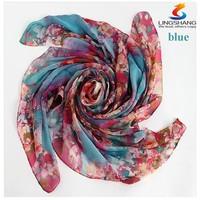 Wholesale-LING/Fashion Headwear Satin Bandanas,Square Ladies Silk Scarves,Digital Print Flower Beige Foulard bandana scarf