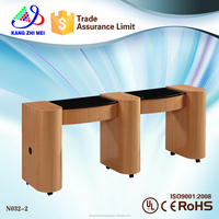 double nail table/nail dryer station/portable manicure table nail station (KM-N032-2)