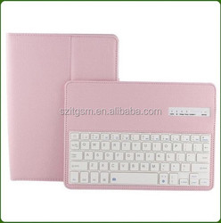 High quality 8'V3.0 wireless bluetooth keyboard leather case for ipad covers wholesale price