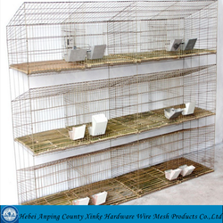 Wholesale rabbit breeding cages small pet cage rabbit cage folded cage