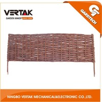 One-stop garden supplier woven willlow obelisk ,environmental willow fence,hot selling willow fence