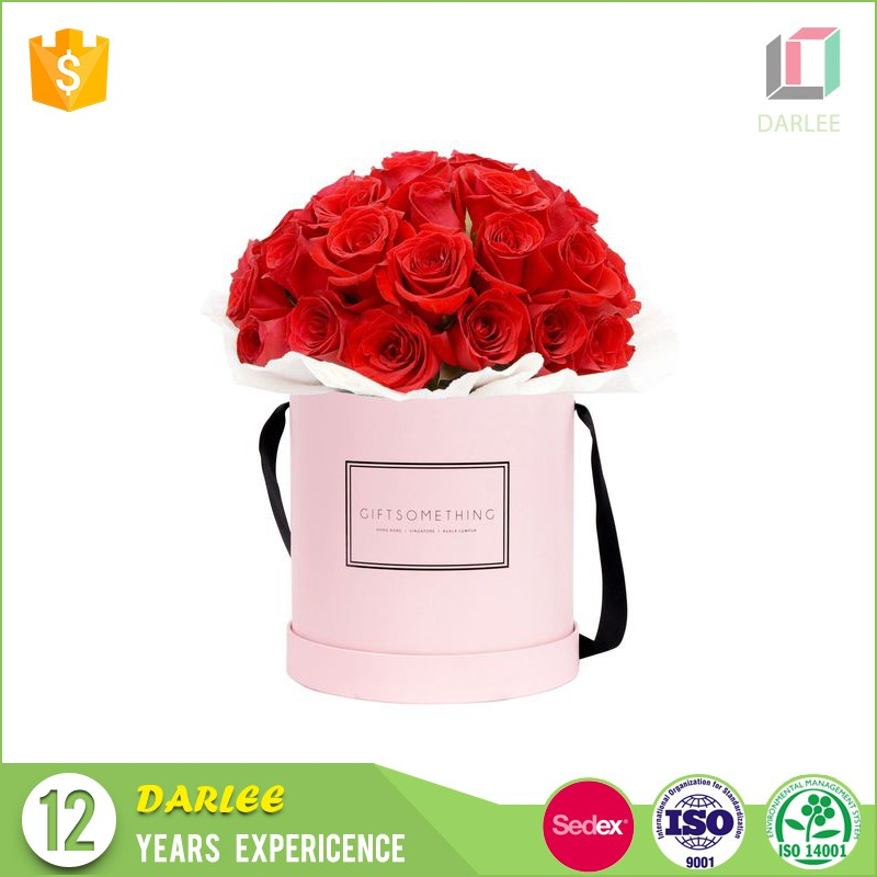 round cylinder luxury flower packaging box