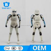 OEM Star wars action figure for kids, custom posebale Stromtrooper pvc figure from China