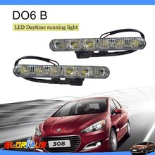 Spuer brighter& hot sale!! 12V DC 6W/pcs Car LED Daytime running lights Car flexible led drl/ daytime running light