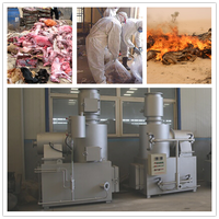 animal dead body or solid waste disposal device / solid waste incinerator