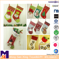 Wholesale custom christmas decoration santa snowman stocking