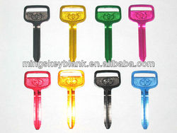 for toyota car used TOY43 colours key blank