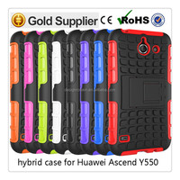 Roiskin shockproof pc tpu hybrid kickstand phone case for Huawei Ascend Y550