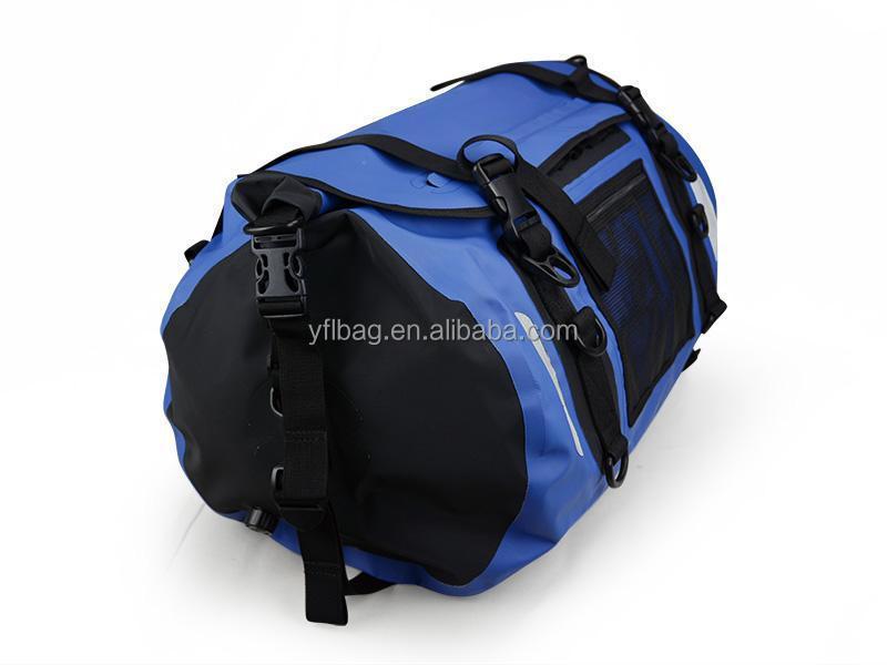 Blue travel waterproof luggage bag china wholesale