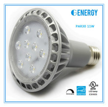 ES, UL, CE approval energy saving light bulb 11w dimmable par30 led