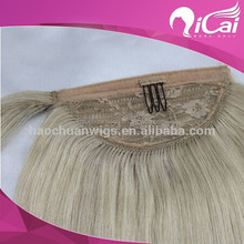 top quality blonde human hair ponytail for white women virgin brazilian clip in one piece hair extensions